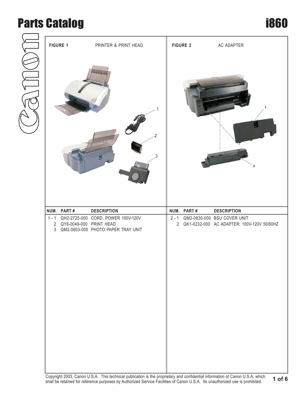 canon pixus i860 parts catalog manual rh qmanual com Canon I860 Ink Cartridges I860 Money
